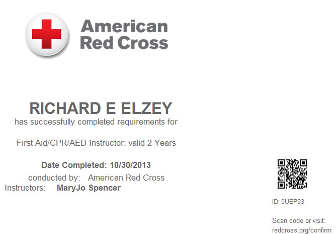 Red Cross First Aidcpraed Instructor Certification